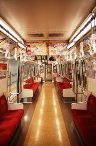 This is the typical interior of the local train.
