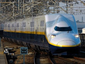 "Double decker train that is called ""MAX"". It runs on Tohoku and Joetsu Shinkansen."