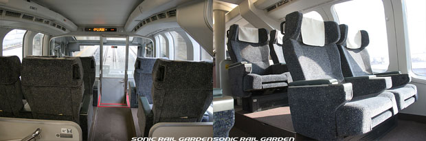 The first two rows are called Panoramic seat. It gives you the spectacular view. (C) Sonic Rail Garden