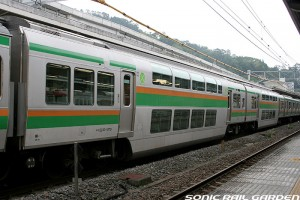 Most of Rapid trains have double decker Green car. (C) Sonic Rail Garden