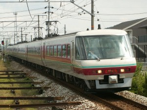 Green car with Panoramic window is in train formation of some Yakumo.