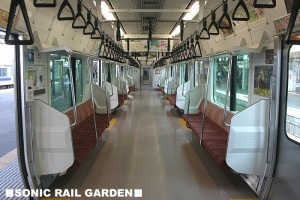 Local train is designed for the commuters. (C) Sonic Rail Garden