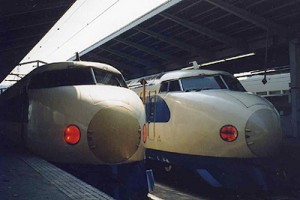 Original Shinkansen 0 series. It has been already disused.