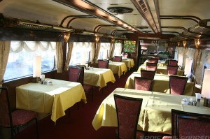 Dining car, Diner Pleiades on Twilight Express (C) Sonic Rail Garden