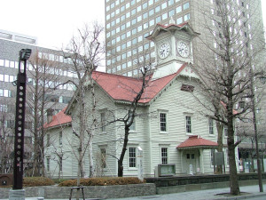 Clock tower is the icon of Sapporo.